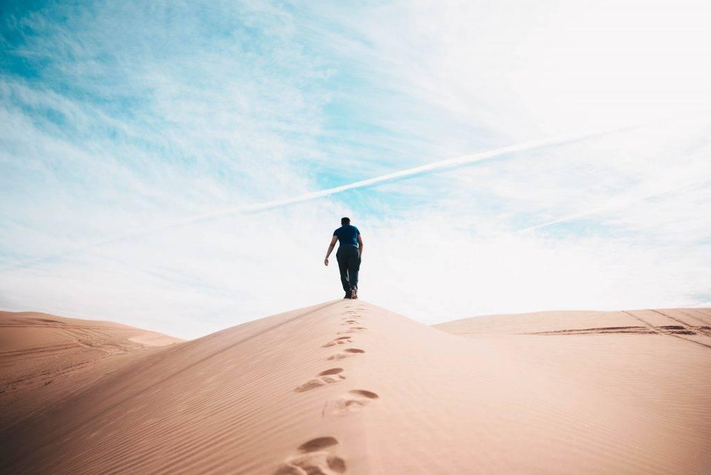 Marche dans le désert