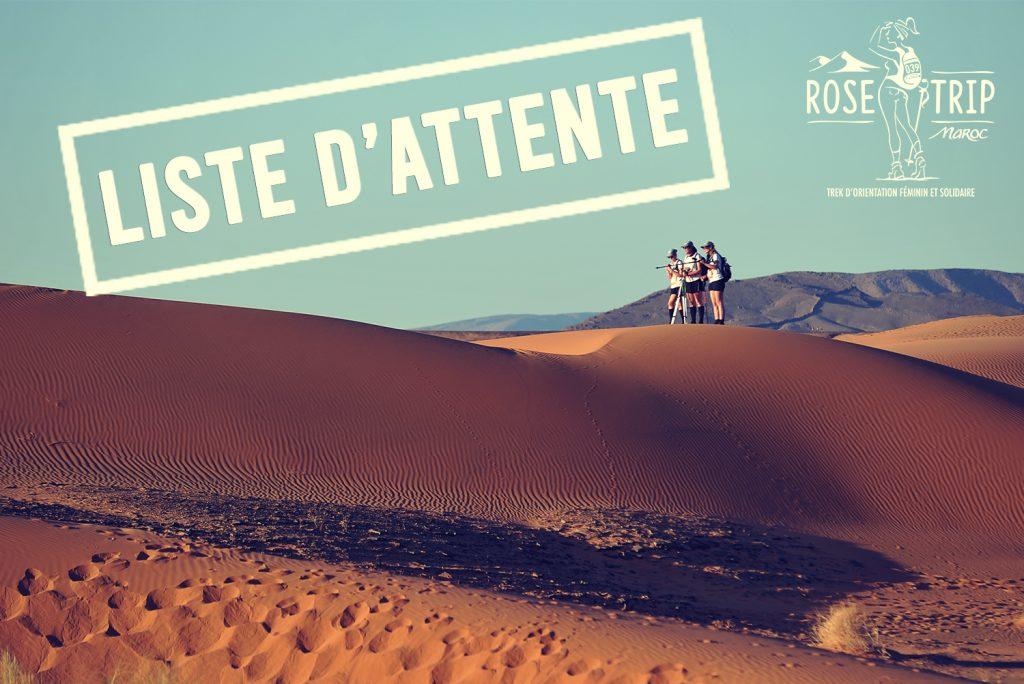Flash Info : Le Rose Trip Maroc ouvre une liste d'attente